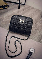 Женская сумка клатч на цепочке стеганная