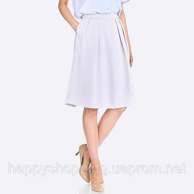 Светло-серая юбка Uniqlo