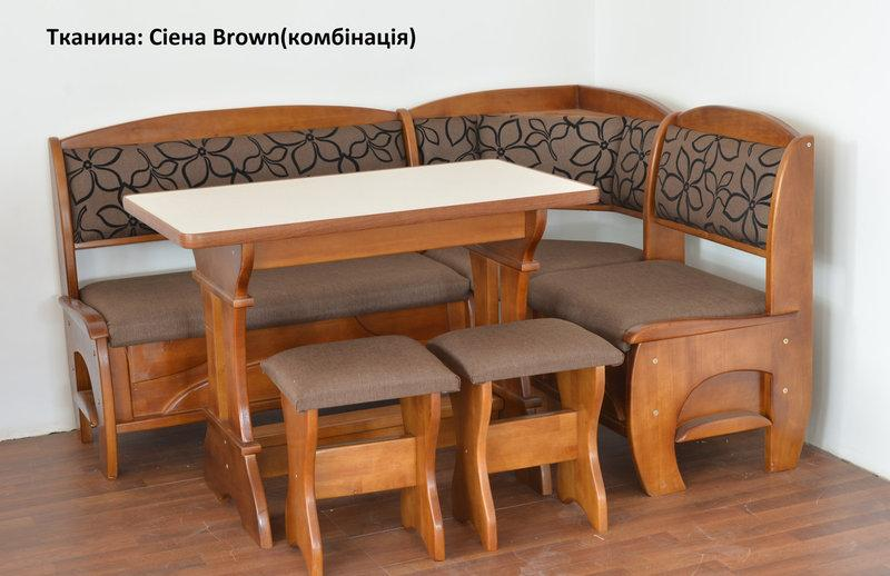 Кухонный уголок со столом и табуретами Софи 2 дерево