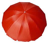 Зонт торговый круглый с серебряным напылением 12 спиц 2,5 м