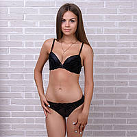 Стильный комплект белья женский с кружевом: бюстгальтер и трусики Pinkdear 8366 10234531 (3 ед. в упаковке)