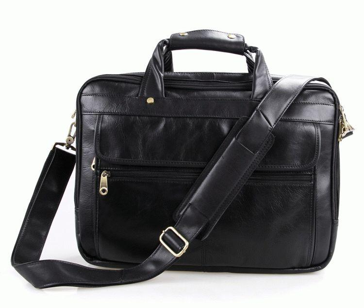"""Кожаная сумка Laptop Black для ноутбука 15,6"""""""
