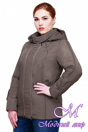 Женская осенняя куртка батальных размеров (р. 50-62) арт. Аврора, фото 2