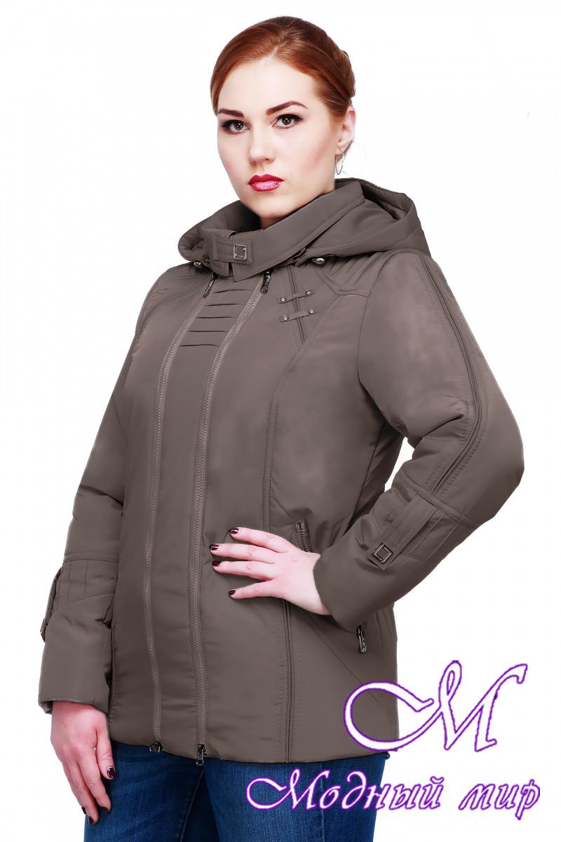 Женская осенняя куртка батальных размеров (р. 50-62) арт. Аврора