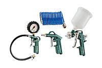 Metabo LPZ 4 Set Набор пневмоинструмента (продувочный пистолет, пост. Для накачки шин, краскопульт, спиральный