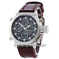 Мужские оригинальные кварцевые часы AMST Silver-Black