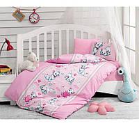Комплект детского постельного белья Cotton Box Miyav Pembe Турция