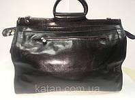 Дорожная сумка кожа Италия черный 4563