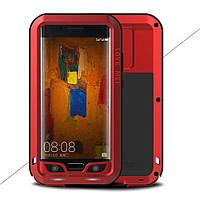 Чехол противоударный Love Mei Gorilla Glass для Huawei Mate 9 Pro красный