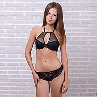 Комплект белья женский кружевной: бюстгальтер и трусы мини-бикини Pinkdear 8387black 10234489 нижнее белье от производителя