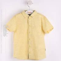 Рубашка льняная для мальчика с коротким рукавом, белая 128, 134 размер