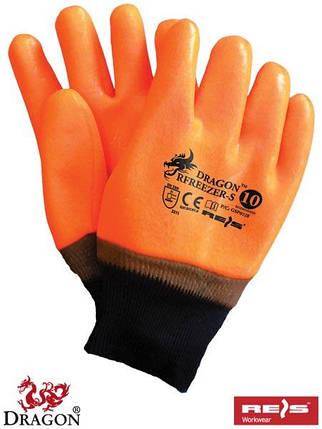 Перчатки защитные утепленные, покрытые ПВХ RFREEZER-S P, фото 2