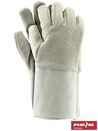 Защитные перчатки, изготовленные из махровой ткани, с манжетой RFROTM BE, фото 2