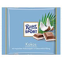 Шоколад Ritter Sport Coconut (Риттер спорт с кокосом)