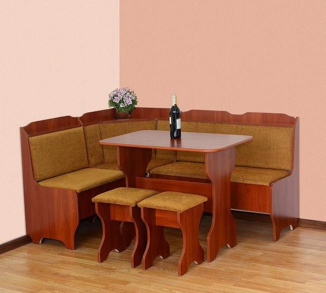 Кухонный уголок Ната со столом и табуретами Летро