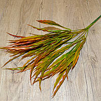 Трава искусственная волнистая (коричневый)