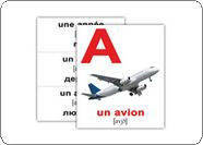 """Карточки мини русско-французские """"Алфавит/L'alphabet Francais"""" 20 карт., в пак. 10*9см, ТМ Вундеркин(255519)"""