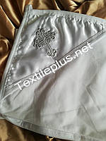 Крыжма уголок трикотаж с серебром Textile plus