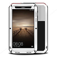 Чехол противоударный Love Mei Gorilla Glass для Huawei Mate 9 белый