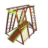 Дитячий спортивний комплекс Babygrai в кольорі Горіх з рахунками