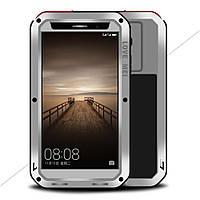 Чехол противоударный Love Mei Gorilla Glass для Huawei Mate 9 серебро