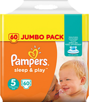 Подгузники Pampers Sleep&Play Junior 5 (11-23 кг) JUMBO PACK 60 шт