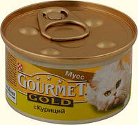 Консервы для котов Gourmet Gold (Гурмет Голд) мусс из курицы (паштет) 85 гр.
