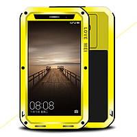 Чехол противоударный Love Mei Gorilla Glass для Huawei Mate 9 желтый