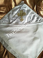 Крыжма уголок трикотаж с золотом Textile plus