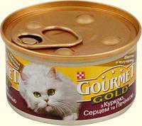 Консервы для котов Gourmet Gold (Гурмет Голд)  курица и печень 85 гр