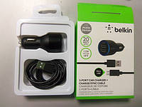 СЗУ Belkin 2 USB выхода + cable microUSB
