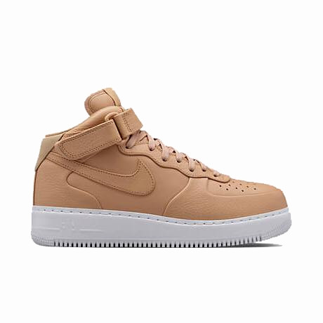 NikeLab Air Force 1 Mid Vachetta Tan/White Кожаные кроссо. Интернет магазин кроссовок. Кроссовки Найк