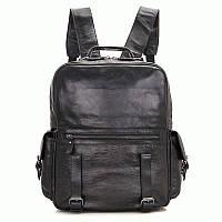 Рюкзак S.J.D. 7355A кожаный Черный