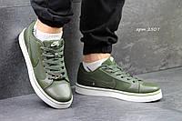 Мужские кроссовки Nike SB, джинс + пресс кожа, зеленые / кроссовки для зала мужские Найк СБ, стильные