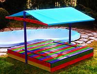 Детская игровая площадка с крышей (песочница с крышей + столик с лавочками), фото 1
