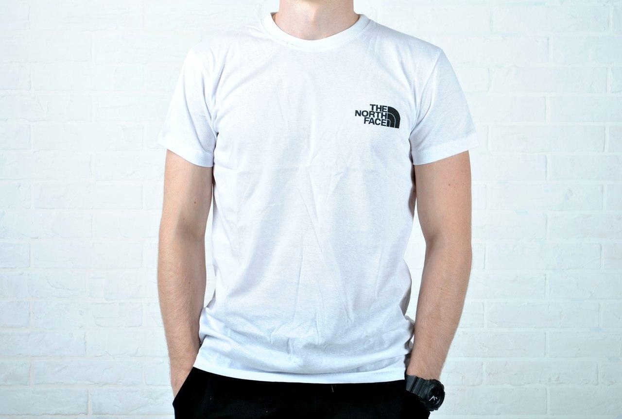 Мужская спортивная футболка the north face, белая