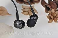 Наушники гарнитура 3,5 Remax RM-501 для Apple Samsung HTC LG Lenovo черный