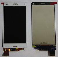 Дисплей (модуль) + тачскрин (сенсор) для Sony Xperia Z3 Compact D5803 | D5833 | M55w (белый цвет)
