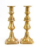 Два старых бронзовых подсвечника, винтаж из Англии, бронза, 25 см, фото 3