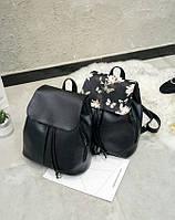 Женский рюкзак городской с цветами
