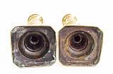 Два старых бронзовых подсвечника, винтаж из Англии, бронза, 25 см, фото 8