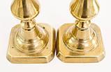 Два старых бронзовых подсвечника, винтаж из Англии, бронза, 25 см, фото 9