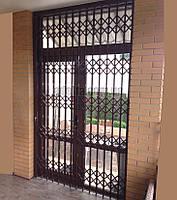 Раздвижные решетки на двери Шир.1715*Выс2805мм для дома, фото 1