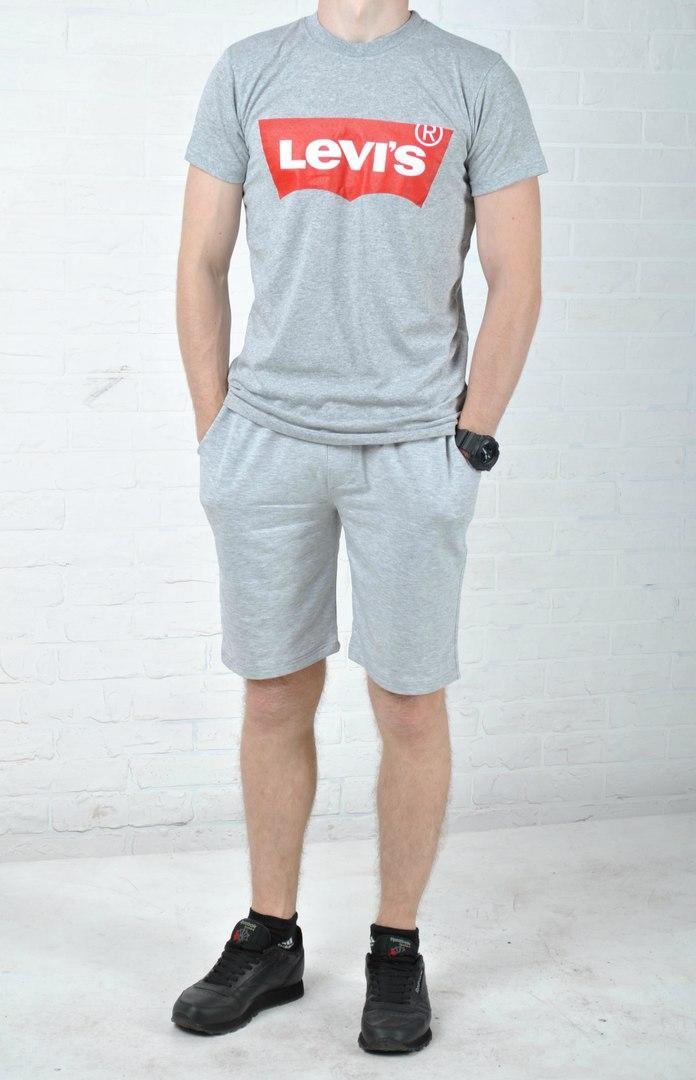 d7b9f81f Мужской летний костюм левайз (Levis), шорты и футболка реплика, цена ...