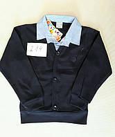 Рубашка-обманка школьная для мальчика (6 - 14 лет) купить оптом прямой поставщик