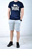 Мужской комплект для тренировок лонсдейл (Lonsdale), шорты и футболка