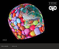 Шапка для девочки демисезонная с 3D принтом TuTu Mafia 23.3-003690