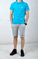Мужской повседневный костюм найк (Nike), футболка и шорты