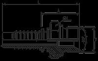 """Штуцер BSP60* 1""""-11 DN25"""