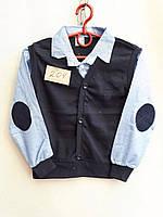 Рубашка-обманка школьная для мальчика (6 - 12 лет) купить оптом прямой поставщик